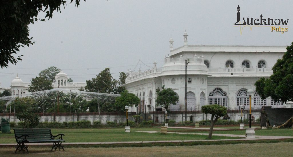 Picture of Sufaid Baradari taken from Butler park, Kaisarbagh, Lucknow