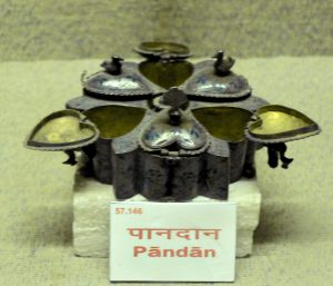 A picture of nawabi era paandaan - a box to store ingredients of paan.