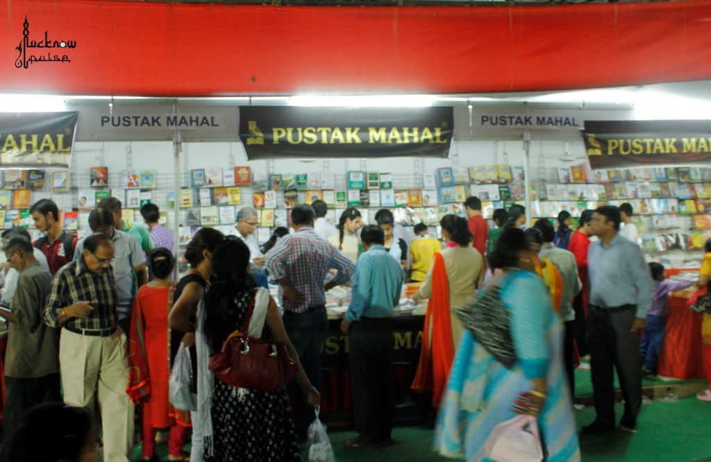 A picture of book lovers at the book-fair-lucknow