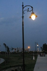 A picture of lamp-post at the janeshwar mishra park
