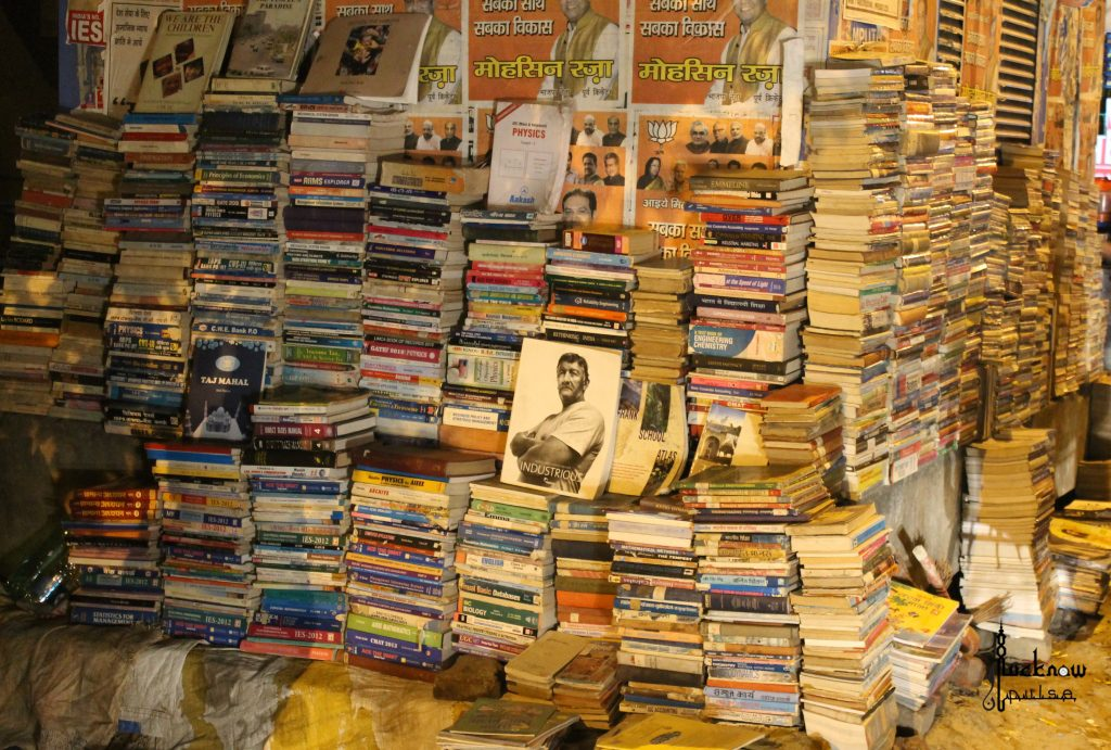 Picture of a bookstore at Lalbagh, Lucknow