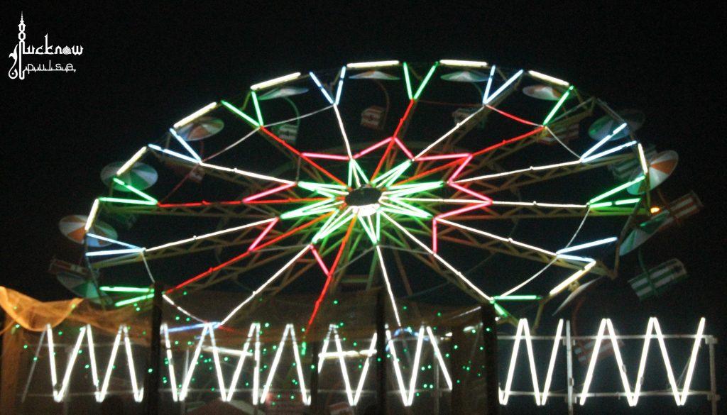 Rides in Funfair - Lucknow Mahotsav