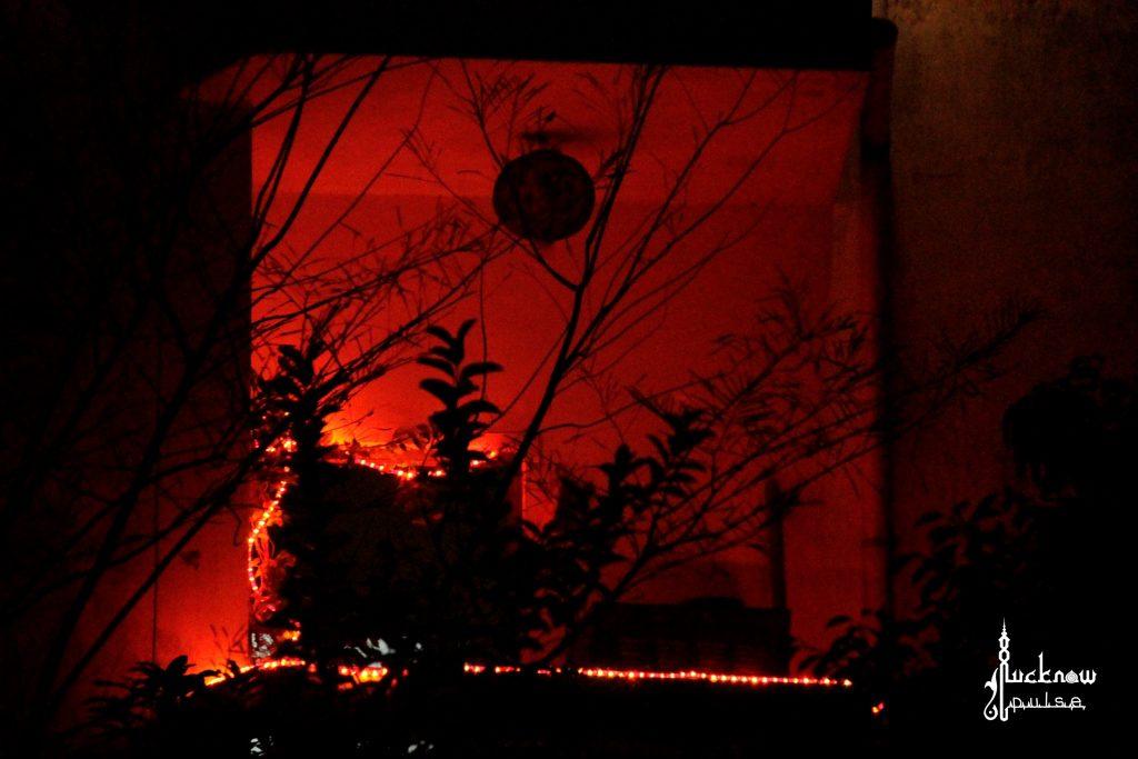 Diwali decor at lucknow