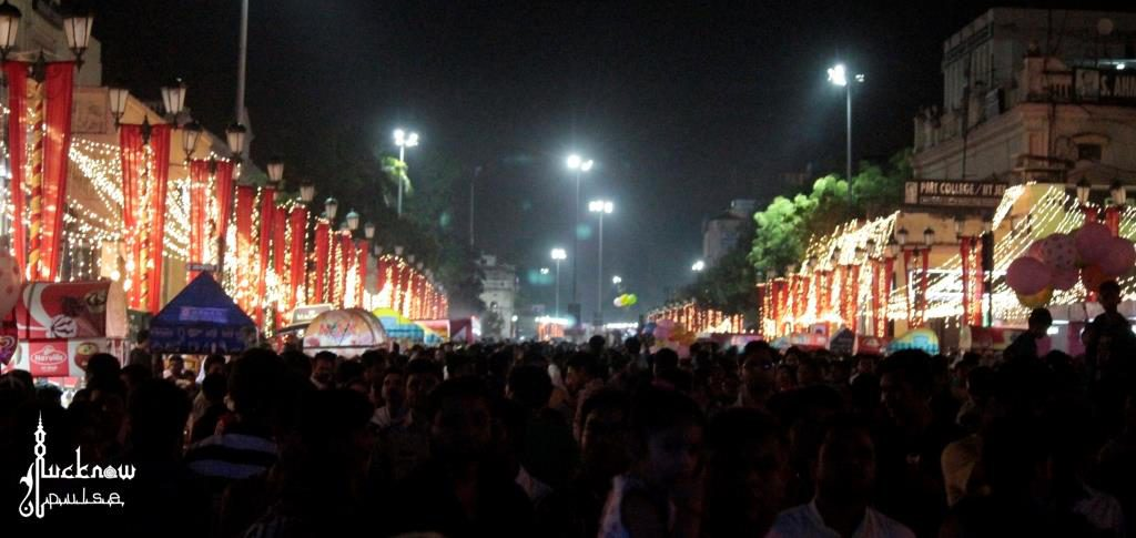 Picture of Hazratganj Lucknow on a mega gunjing carnival