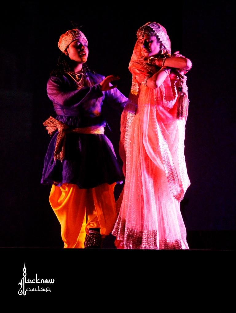 a still picture from dance ballet titled Radha Kanhaiyya ka Qissa during wajid ali shah festival lucknow