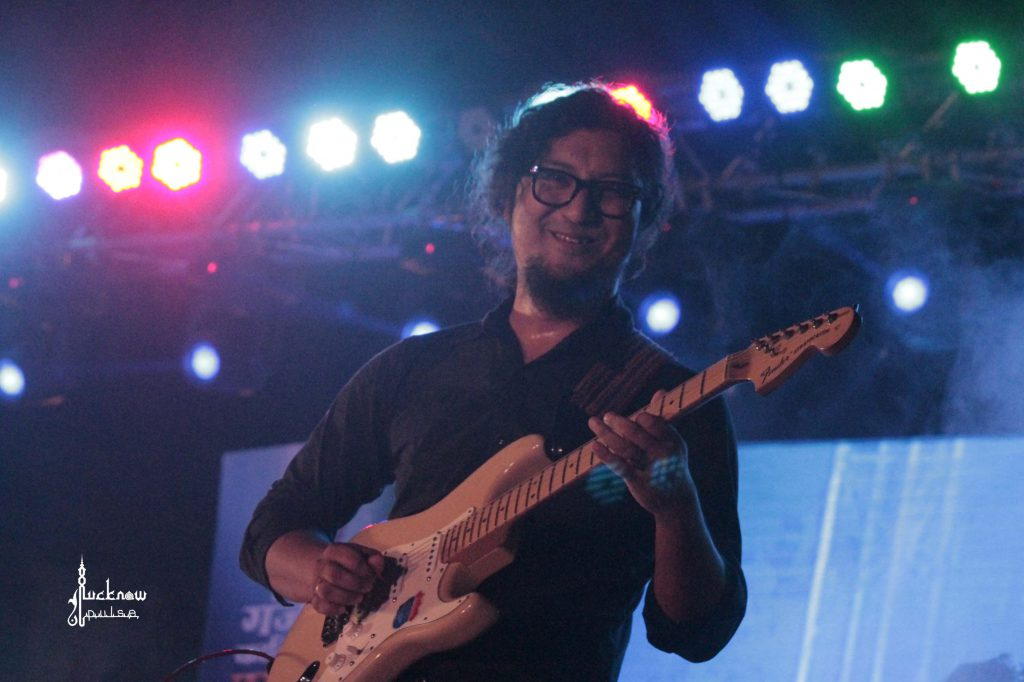 Guitarist at a music concert by Javed Ali in Lucknow