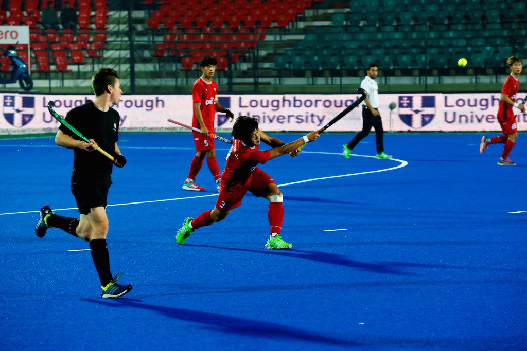 Korea vs Canada hockey match in progress at Junior men's hockey world cup 2016
